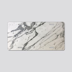chic white marble look Aluminum License Plate