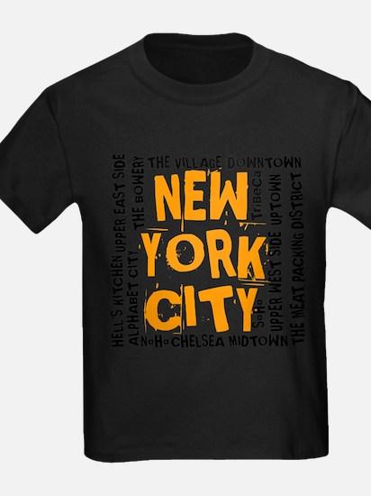 NYC_neighborhoods(on-white)2 T-Shirt