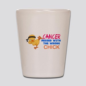 Cancer Messed With The Wrong Chick Shot Glass