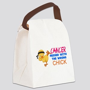 Cancer Messed With The Wrong Chick Canvas Lunch Ba
