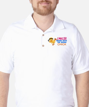 Cancer Messed With The Wrong Chick Golf Shirt