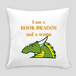 Book Dragon Everyday Pillow