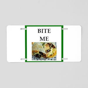 burrito Aluminum License Plate