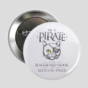 "Pirate Kitty 2.25"" Button"