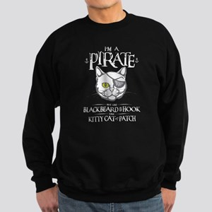Pirate Kitty Sweatshirt (dark)