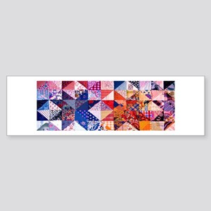 Country Patchwork Quilt Sticker (Bumper)