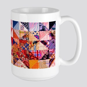 Country Patchwork Quilt Large Mug