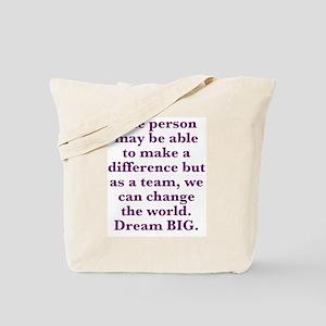 Team World Change Tote Bag