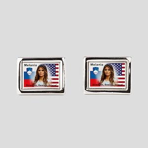 Melania Trump Rectangular Cufflinks