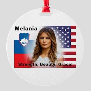 Melania Trump Round Ornament