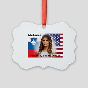 Melania Trump Picture Ornament
