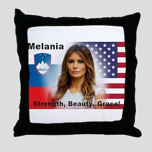 Melania Trump Throw Pillow