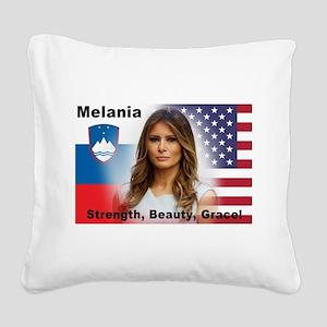 Melania Trump Square Canvas Pillow