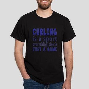 Curling is a sport Dark T-Shirt
