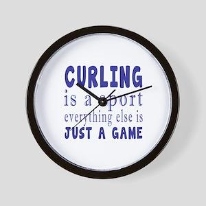 Curling is a sport Wall Clock
