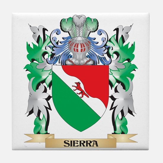 Sierra Coat of Arms - Family Crest Tile Coaster