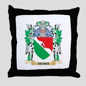 Sierra Coat of Arms - Family Crest Throw Pillow