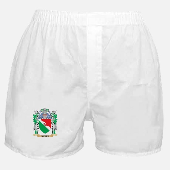 Sierra Coat of Arms - Family Crest Boxer Shorts