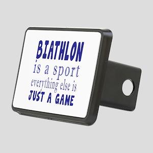 Biathlon is a sport Rectangular Hitch Cover