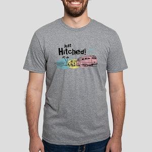 Retro Trailer Just Hitched Mens Tri-blend T-Shirt