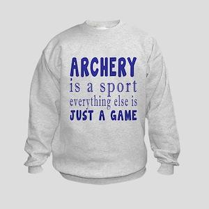 Archery is a sport Kids Sweatshirt