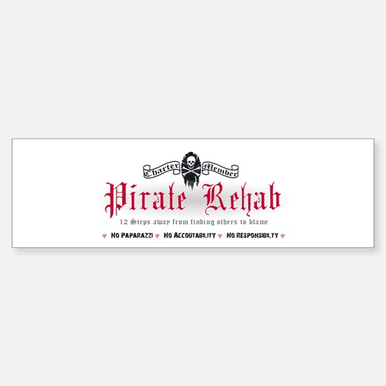 Pirate Rehab Bumper Bumper Bumper Sticker
