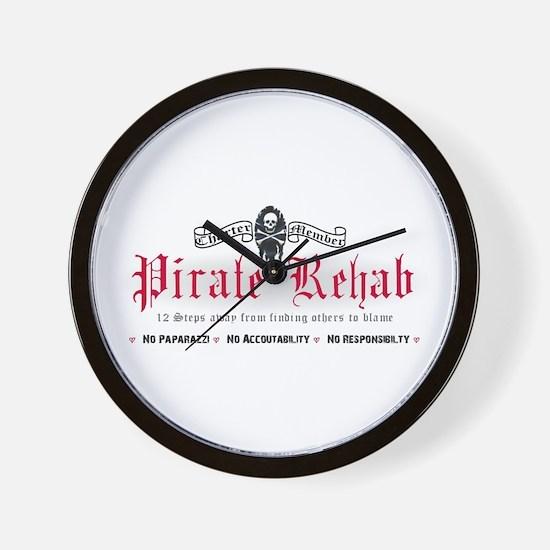 Pirate Rehab Wall Clock