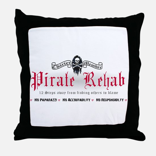 Pirate Rehab Throw Pillow