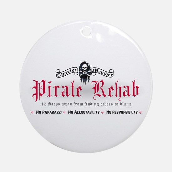 Pirate Rehab Ornament (Round)