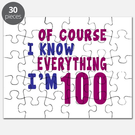 I Know Everythig I Am 100 Puzzle