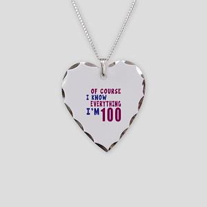 I Know Everythig I Am 100 Necklace Heart Charm