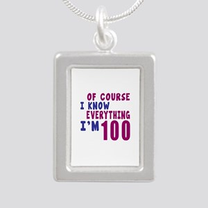 I Know Everythig I Am 10 Silver Portrait Necklace