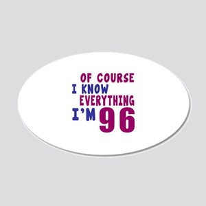 I Know Everythig I Am 96 20x12 Oval Wall Decal