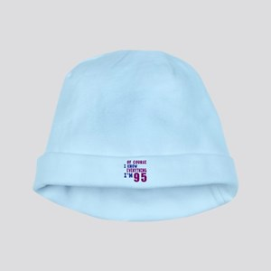 I Know Everythig I Am 95 baby hat
