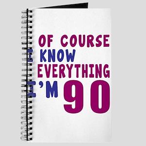 I Know Everythig I Am 90 Journal