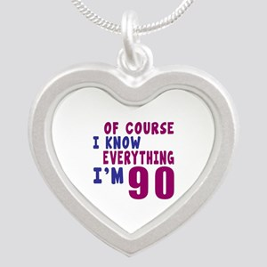 I Know Everythig I Am 90 Silver Heart Necklace