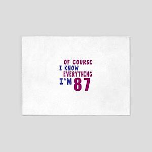 I Know Everythig I Am 87 5'x7'Area Rug