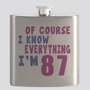 I Know Everythig I Am 87 Flask