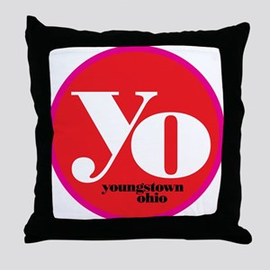 Red Yo! Throw Pillow