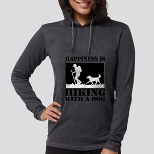 Happiness is Hiking with a Dog Long Sleeve T-Shirt