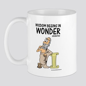 Wisdom Begins in Wonder Mug