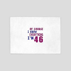 I Know Everythig I Am 46 5'x7'Area Rug