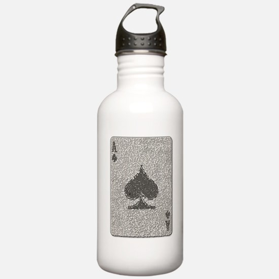 Ace of Spades Mosaic Sports Water Bottle