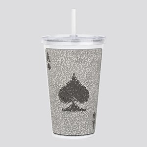 Ace of Spades Mosaic Acrylic Double-wall Tumbler