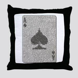 Ace of Spades Mosaic Throw Pillow