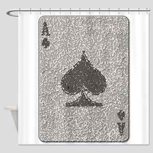 Ace of Spades Mosaic Shower Curtain