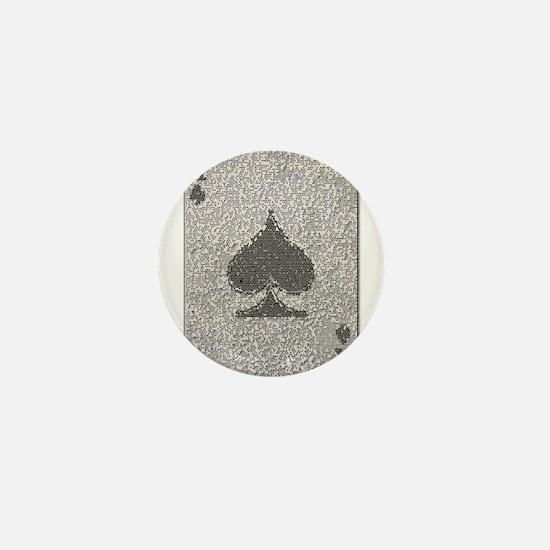 Ace of Spades Mosaic Mini Button