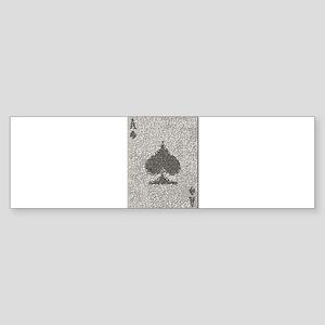 Ace of Spades Mosaic Bumper Sticker