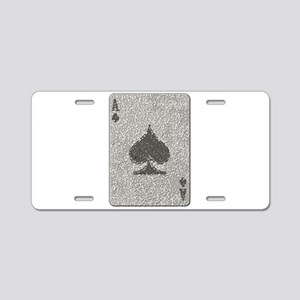Ace of Spades Mosaic Aluminum License Plate