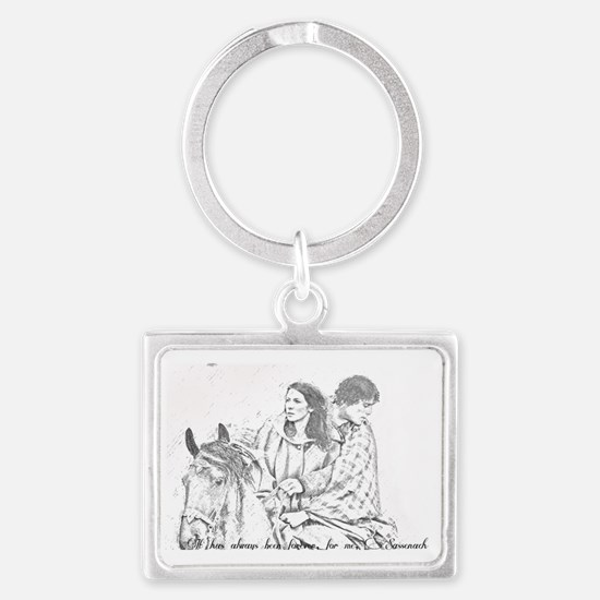 Jamie and claire Landscape Keychain